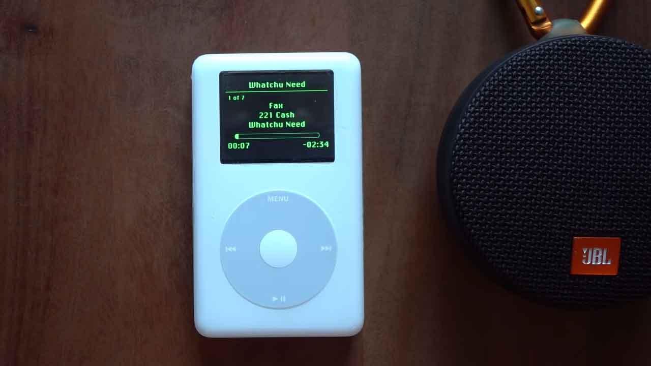 Spotify çalıştıran iPod