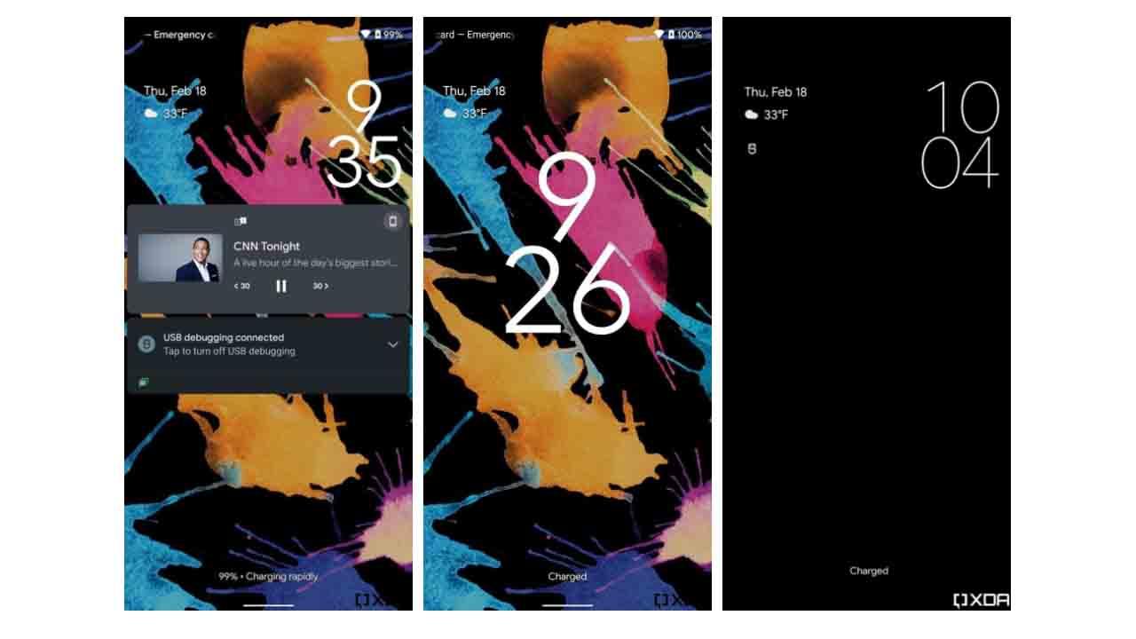 Android 12 kilit ekranı