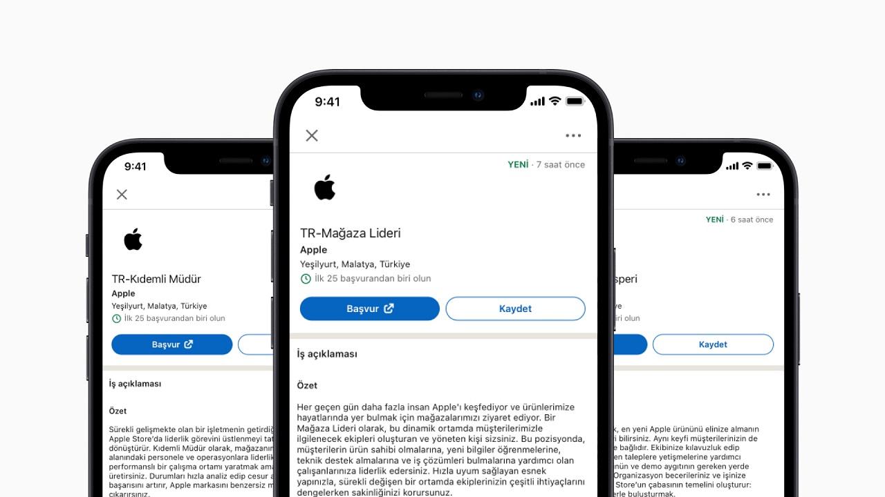 Apple Malatya iş ilanları