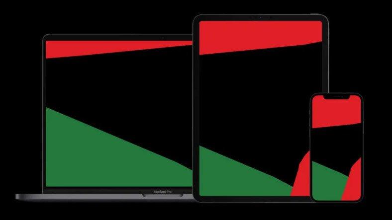 Apple, Siyahilere Destek İçin iPhone, iPad ve Mac'lere Özel Duvar Kağıdı Yayınladı