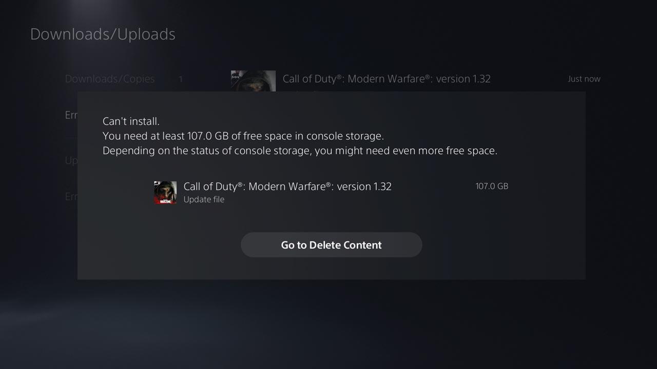 CoD: Modern Warfare PS4 güncellemesi