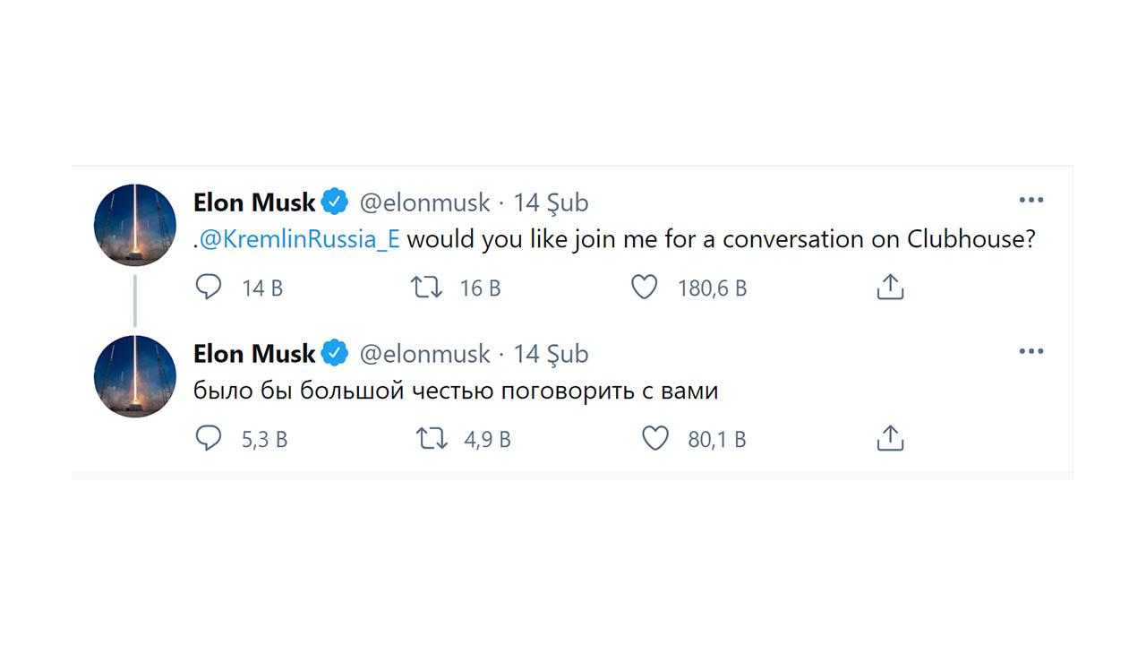 Elon Musk Vladimir Putin'i Clubhouse'a Davet Etti