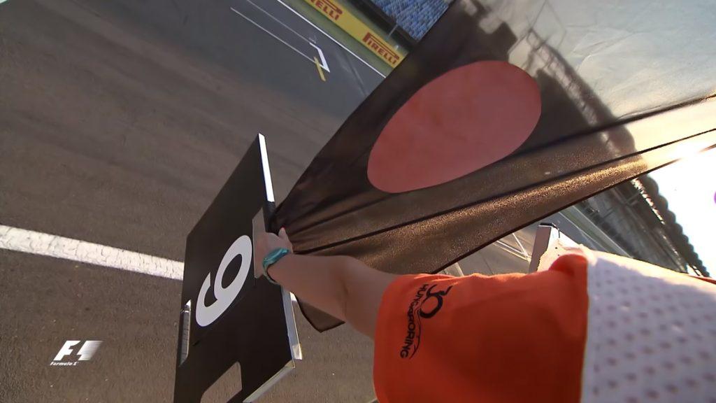 ortası turuncu siyah bayrak