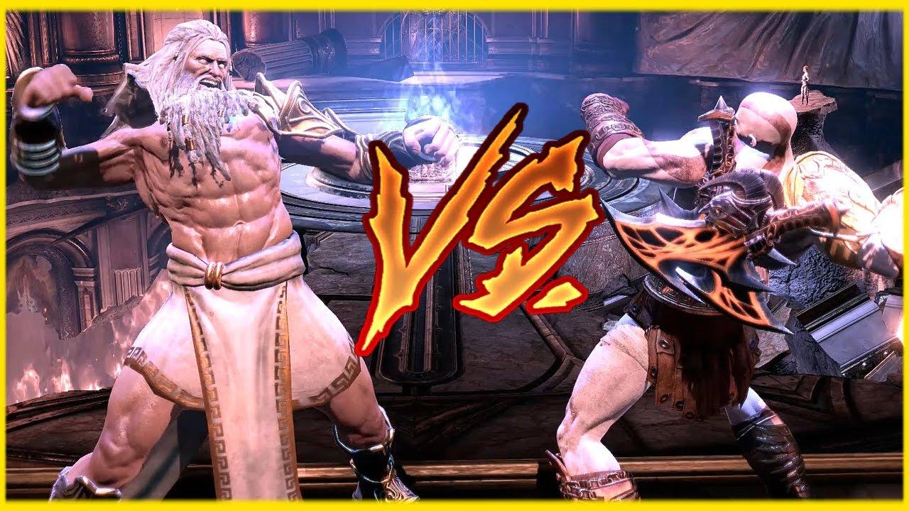 God of War Zeus vs Kratos