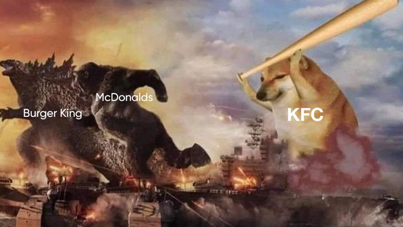 KFC ve Burger King'in Sosyal Medya Hesapları Arasında Geçen Komik Atışma