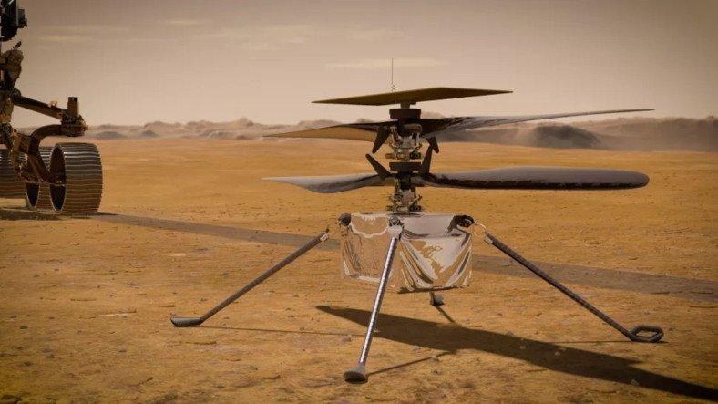Mars'taki İlk Helikopter, İnişin Ardından Dünya İle İletişim Kurdu