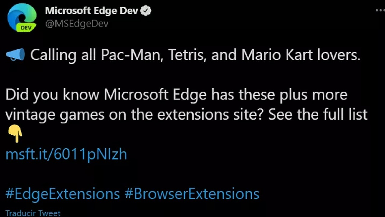 Microsoft Edge Twitter