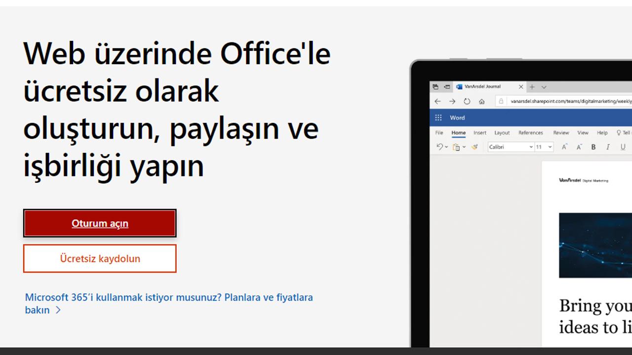 microsoft office live kullanma