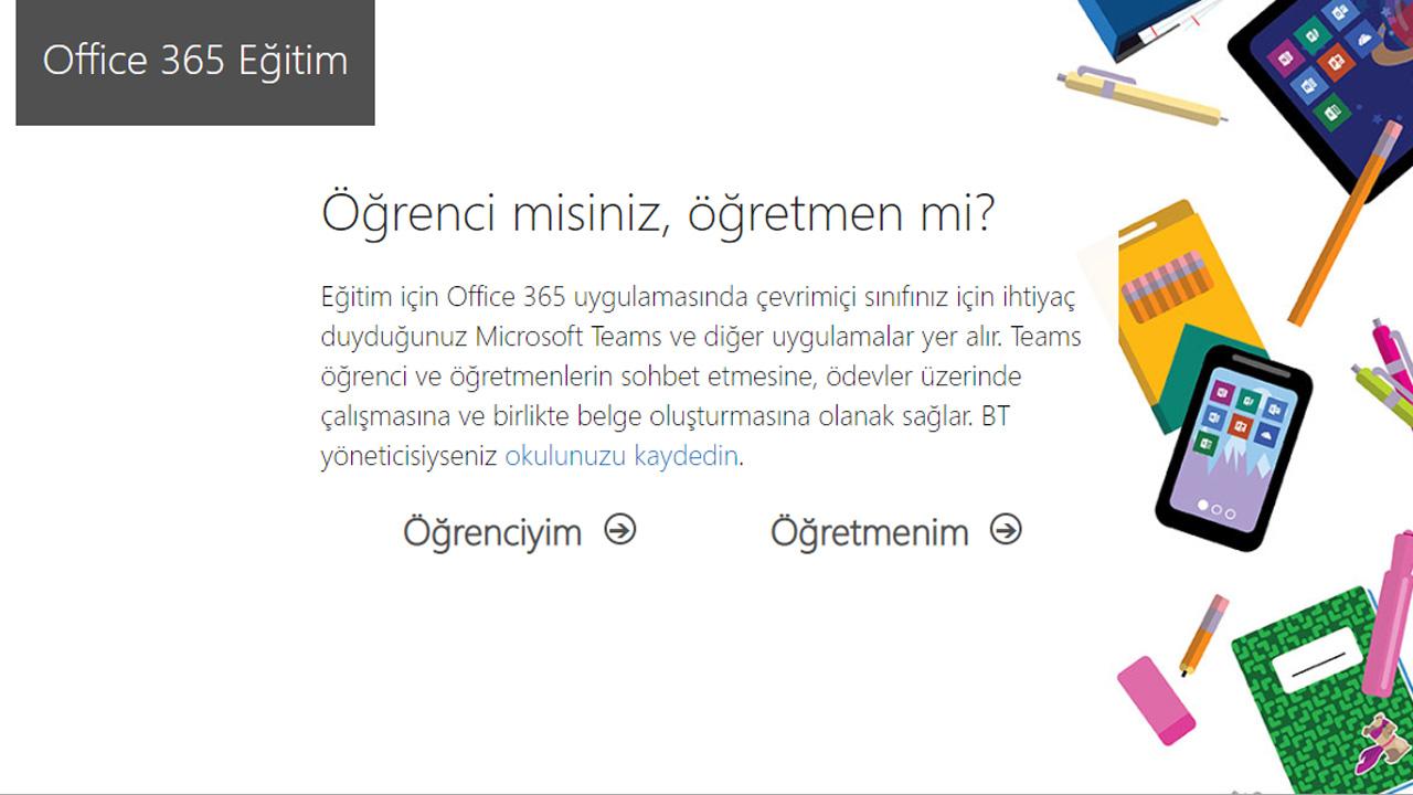 office 365 eğitim ücretsiz