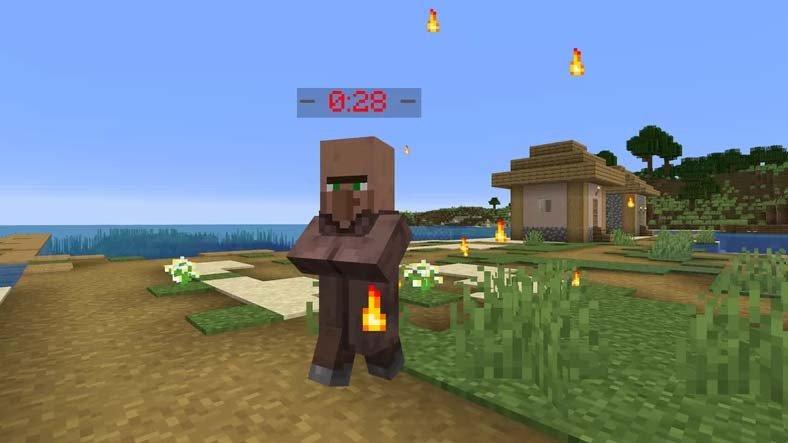 Minecraft'taki Hemen Her Şeyi Saatli Bombaya Dönüştüren Bir Mod Yayınlandı