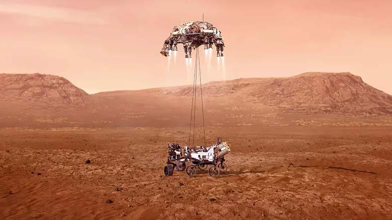 NASA, Perseverance'ın Mars'a İniş Görüntülerini Paylaştı: İlk Ses de Geldi [Video]