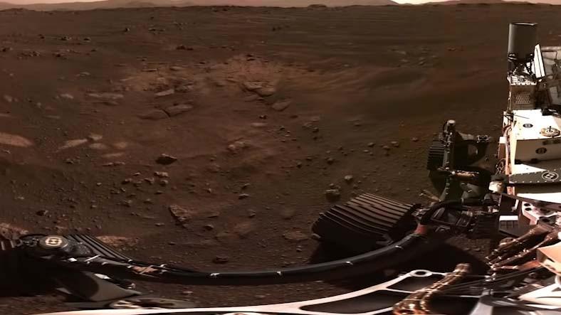 Perseverance'tan Gelen 142 Fotoğraf Birleştirilerek 360 Derecelik Mars Panoraması Oluşturuldu