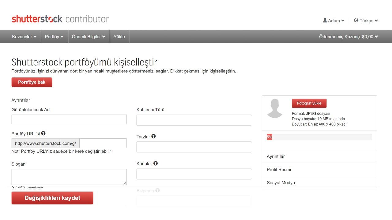 Shutterstock portföy