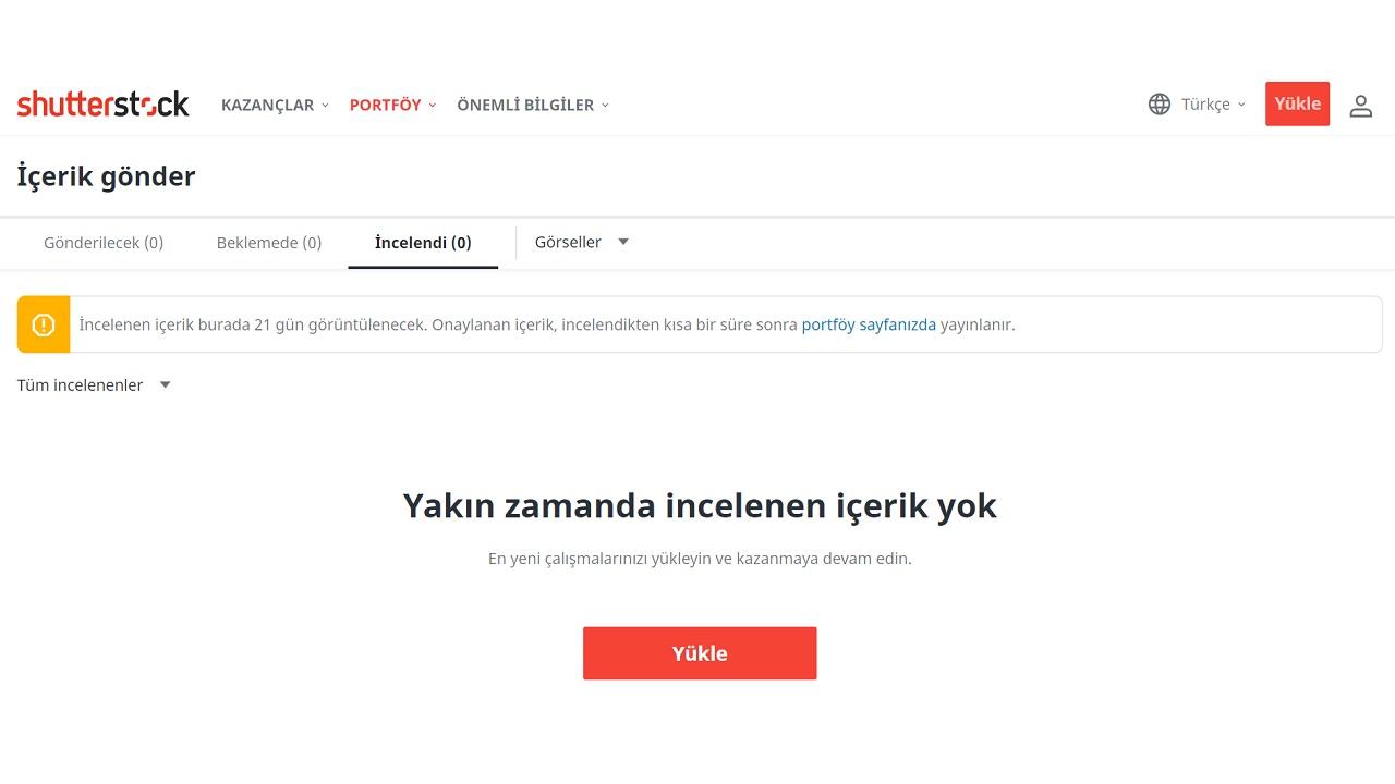Shutterstock içerik yükleme