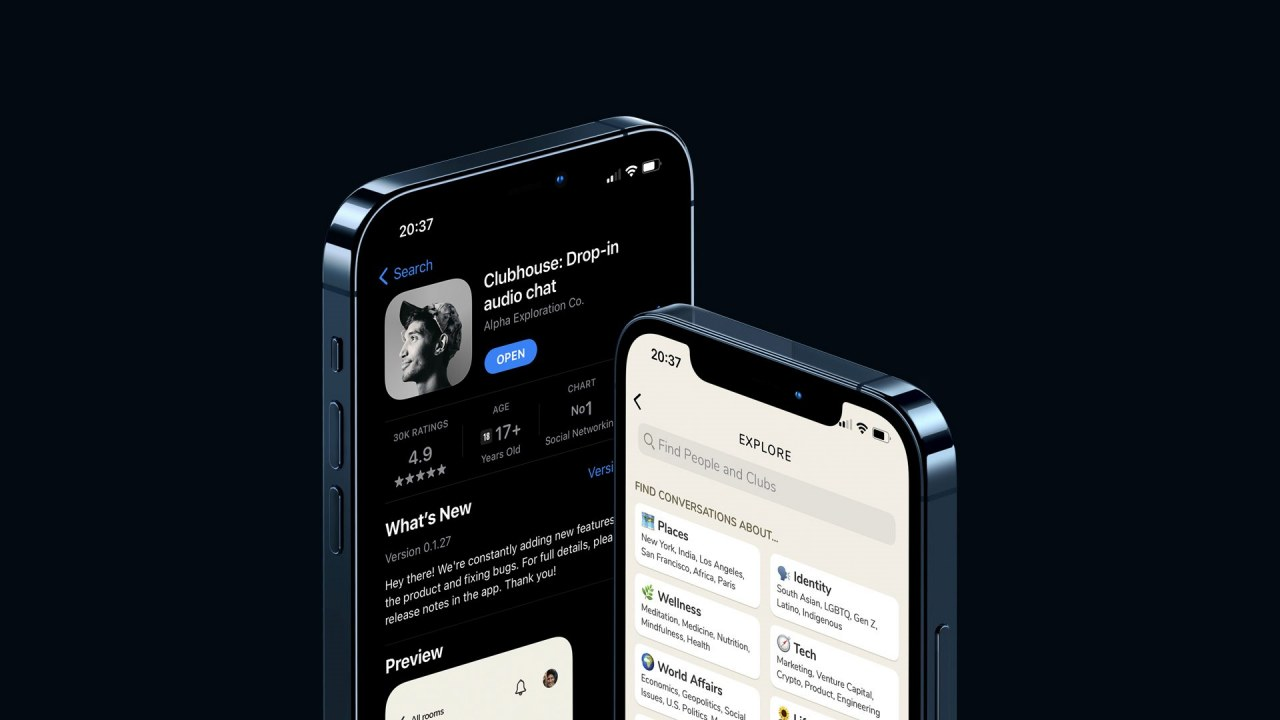 iphone clubhouse