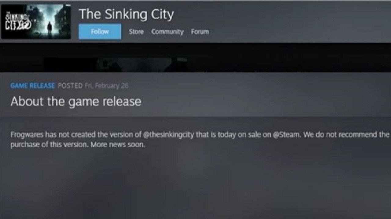 Steam The Sinking City