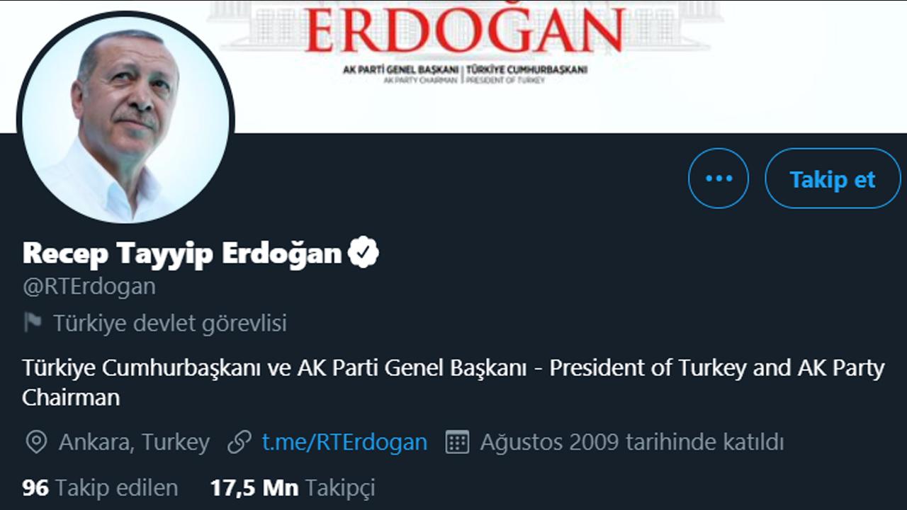 Erdoğan Twitter hesabı