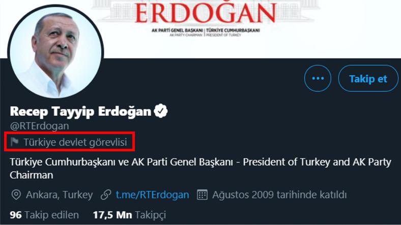 Twitter, Cumhurbaşkanı Erdoğan ve Diğer Devlet Yöneticilerini Etiketlemeye Başladı