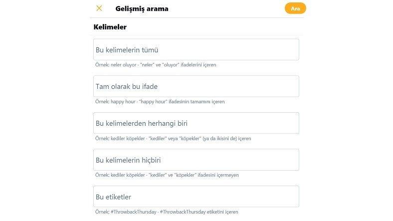Twitter Detaylı Arama Motoru Nasıl Kullanılır?