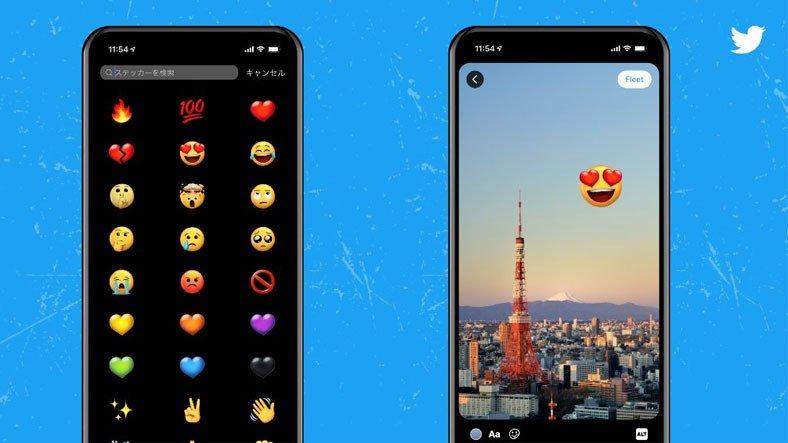 """Twitter, Fleets'e Emojiler Ekleyecek """"Twemoji"""" Özelliğini Test Ediyor"""