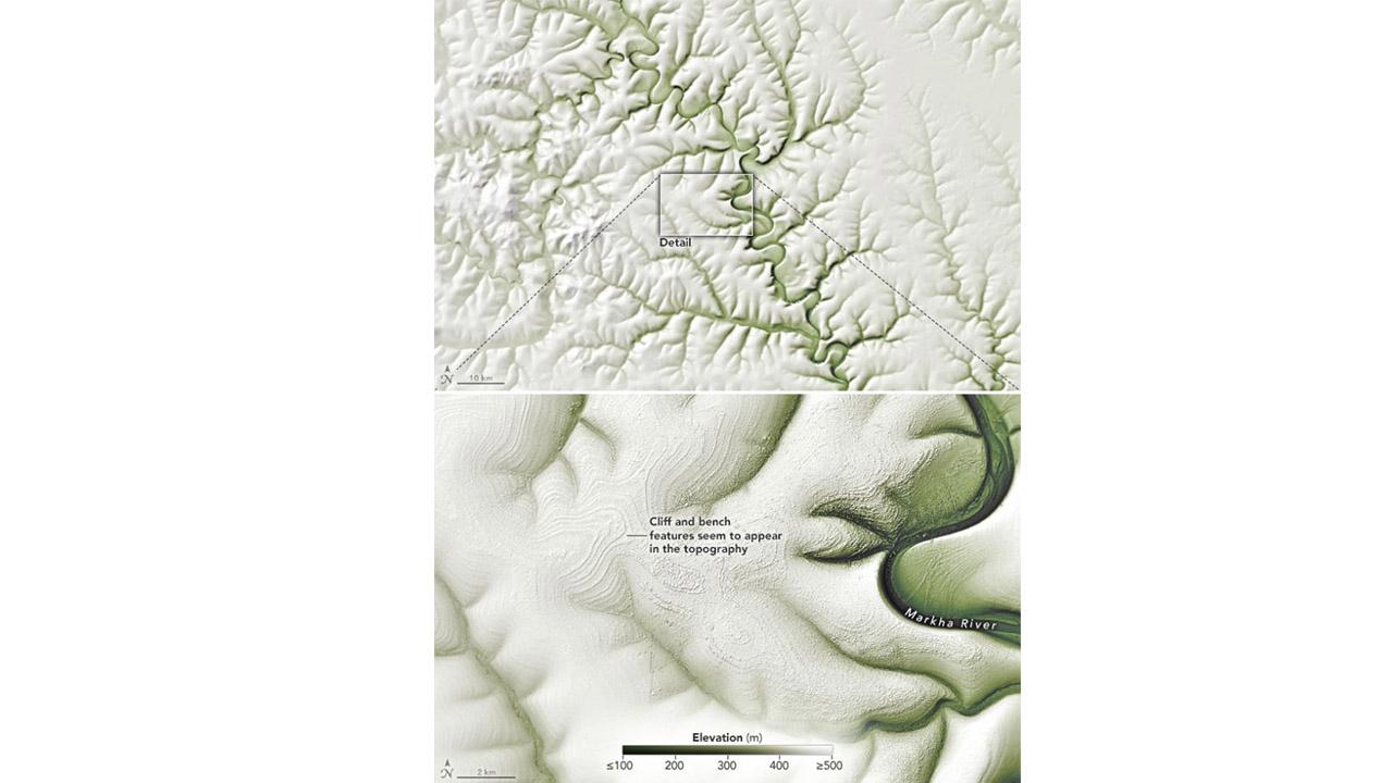Sibirya'daki garip çizgiler erozyondan mı?