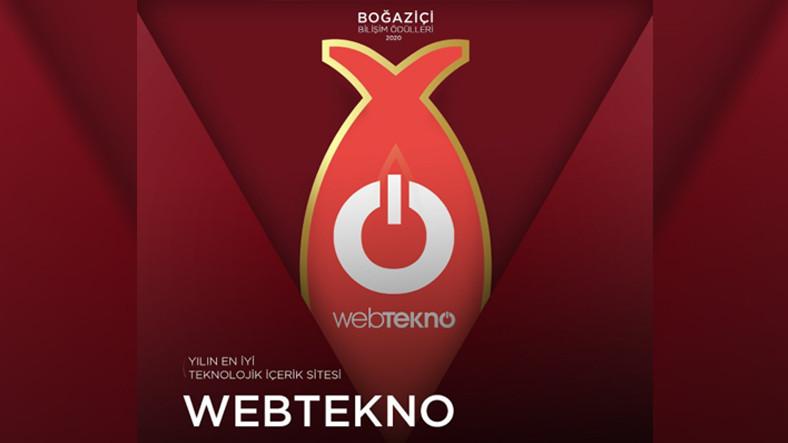 Webtekno, Boğaziçi Bilişim Ödülleri'nde Üst Üste 6. Kez 'Yılın En İyi Teknolojik İçerik Sitesi' Seçildi
