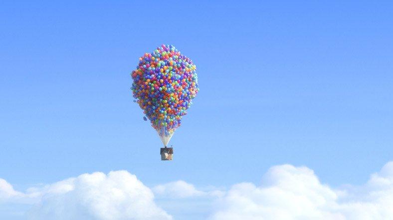 Yukarı Bak (Up) Filminin Uçan Ev Sahnesi, Gerçek Hayatta Simüle Edildi [Video]