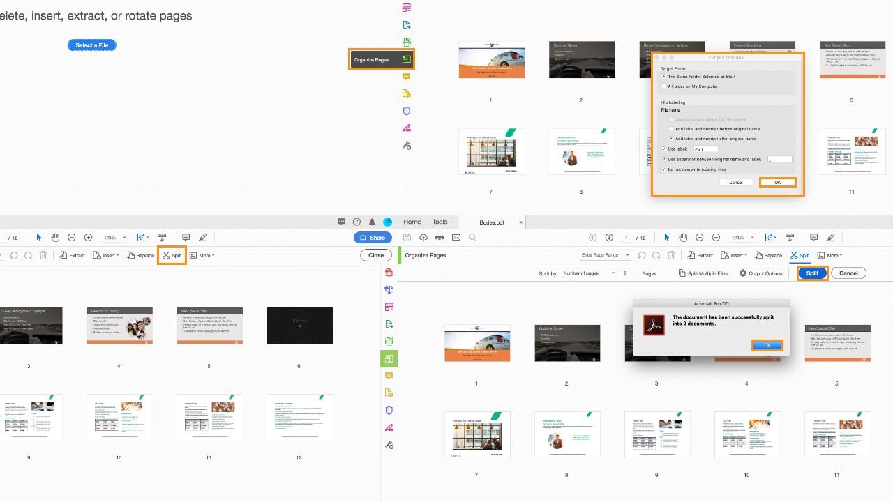Adobe Acrobat DC ile PDF sayfalarını ayırma