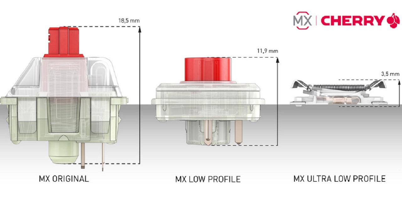 Cherry MX ultra düşük profilli mekanik switch