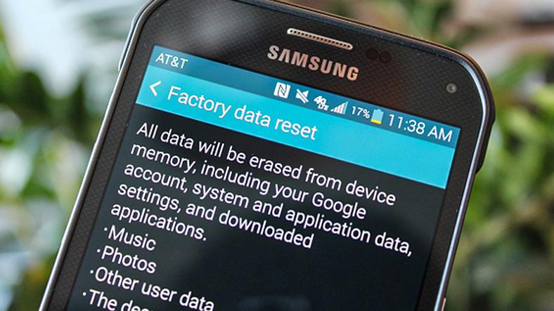 android telefonu fabrika ayarlarına döndürme