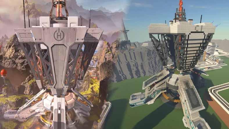 Apex Legends Haritası, Minecraft'ta Yeniden Oluşturuldu: Görüntüler Büyüleyici