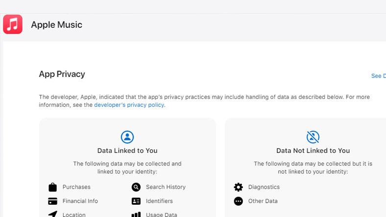 Apple, Kendi Uygulamalarında Hangi Verileri Topladığını Gösterdiği Bir Sayfa Yayınladı
