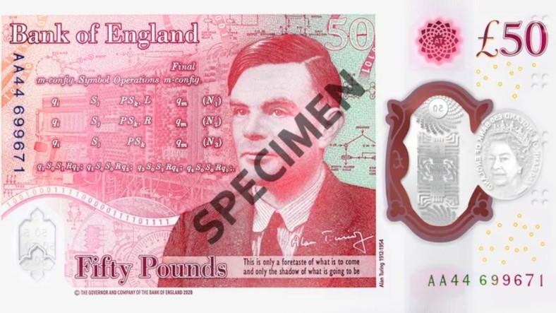 Biz Onu Daha Önce Yaptık: İngiltere'nin Yeni Banknotu, Alan Turing'e Göndermelerle Dolu