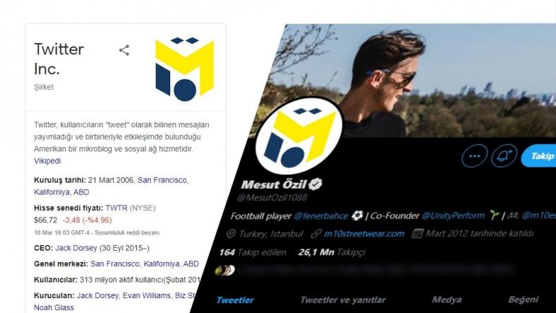 Google'dan Tuhaf Hata: Twitter Logosu Diye Mesut Özil'in Logosunu Gösteriyor