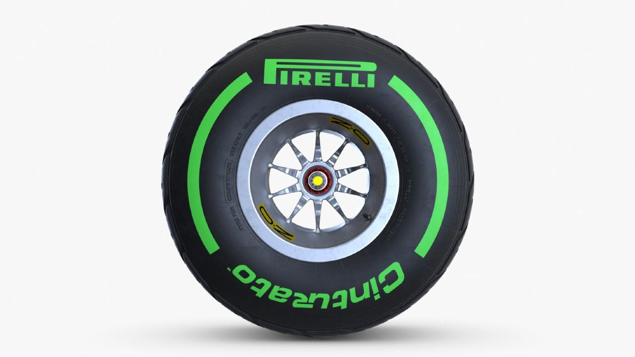 pirelli intermediate green lastik