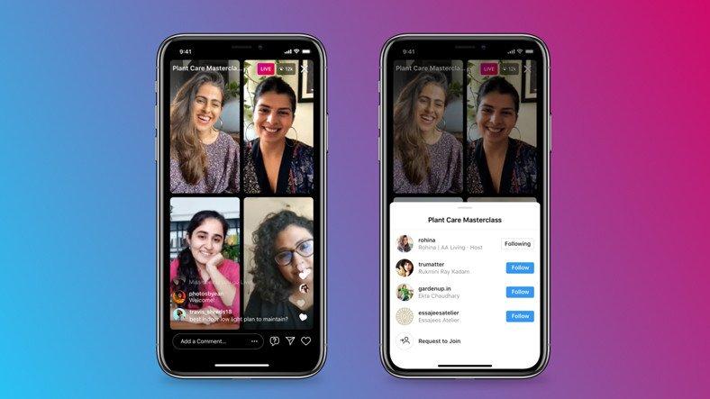 Instagram, Canlı Yayınlarda Katılımcı Sınırını 4'e Yükseltti