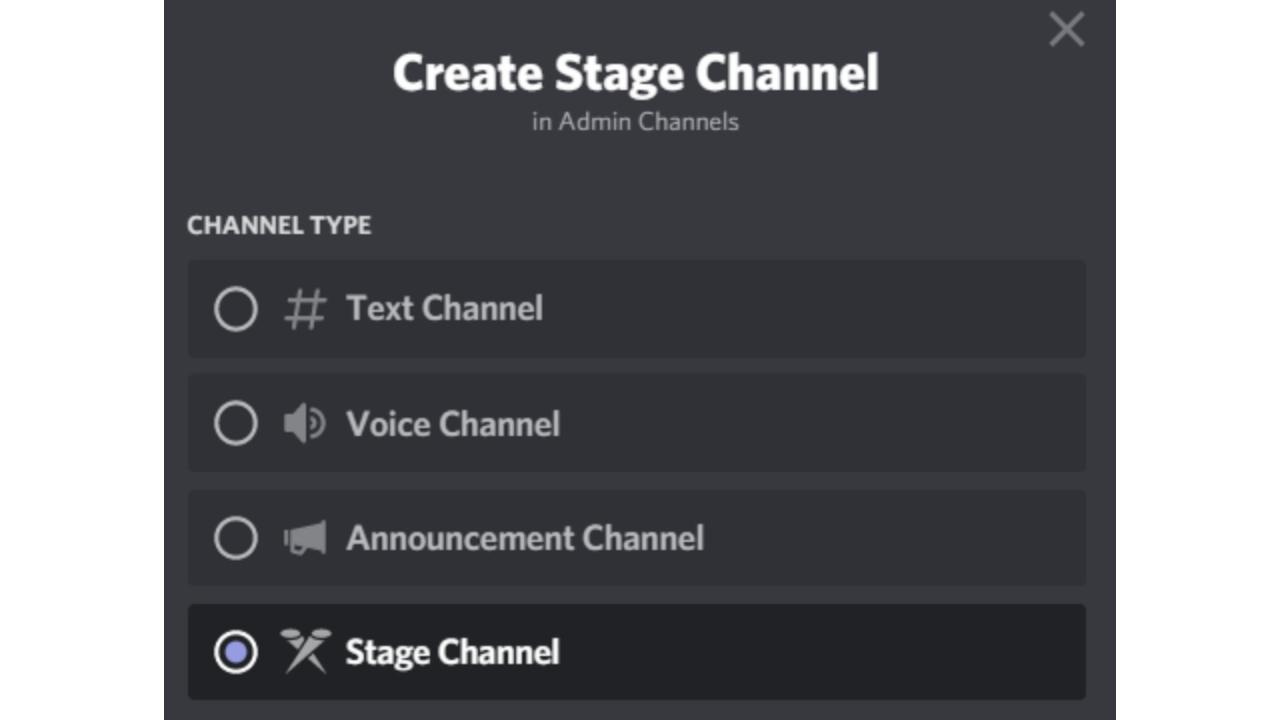discord sahne kanalı