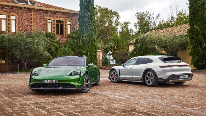 Porsche'nin Yeni Elektrikli Modeli Taycan Cross Turismo Tanıtıldı