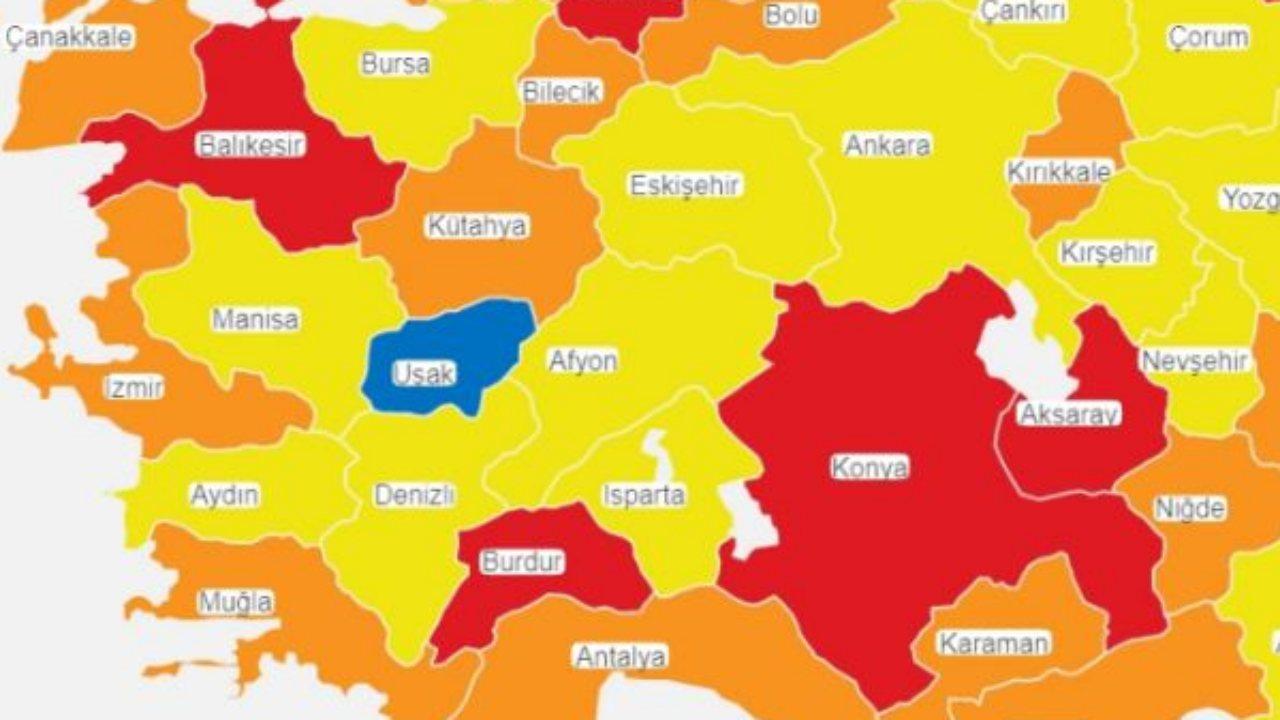 uşak risk haritası