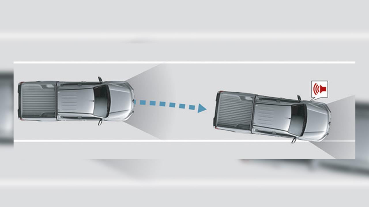 Mitsubishi L200 şerit takip uyarı sistemi