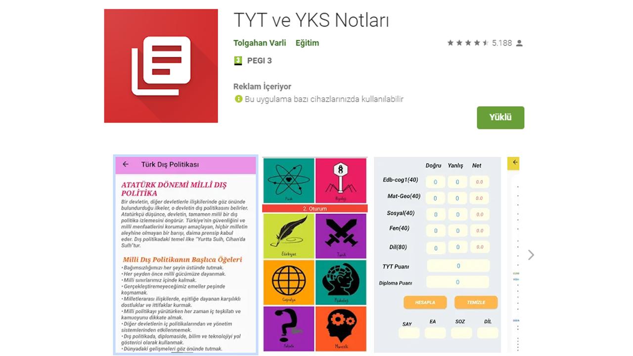 TYT ve YKS Notları