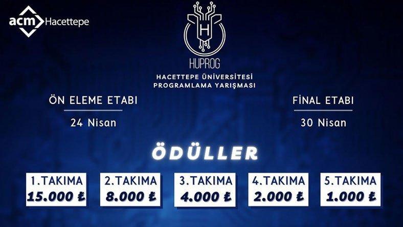 15 Bin TL Ödüllü Hacettepe Üniversitesi Programlama Yarışması Bugün Başlıyor