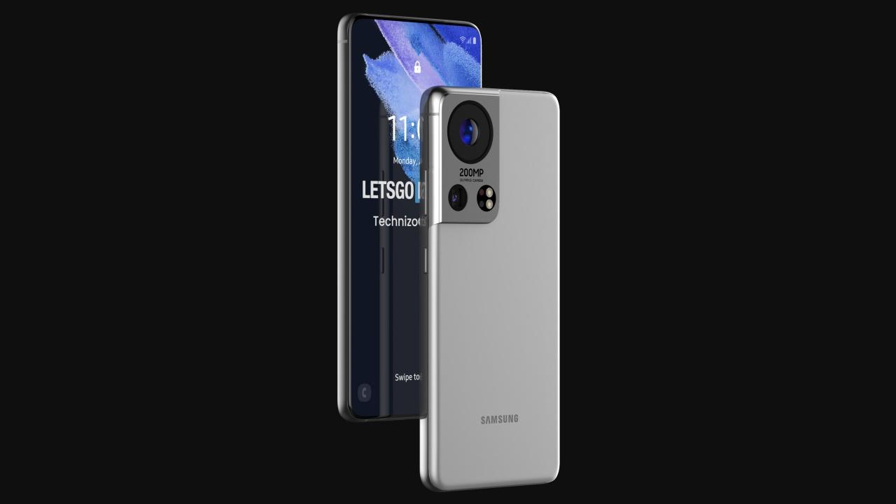 Samsung Galaxy S22 Ultra konsepti ekran