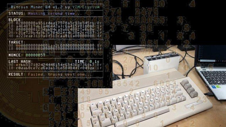 38 Yıllık Commodore 64 ile Bitcoin Madenciliği Yapıldı