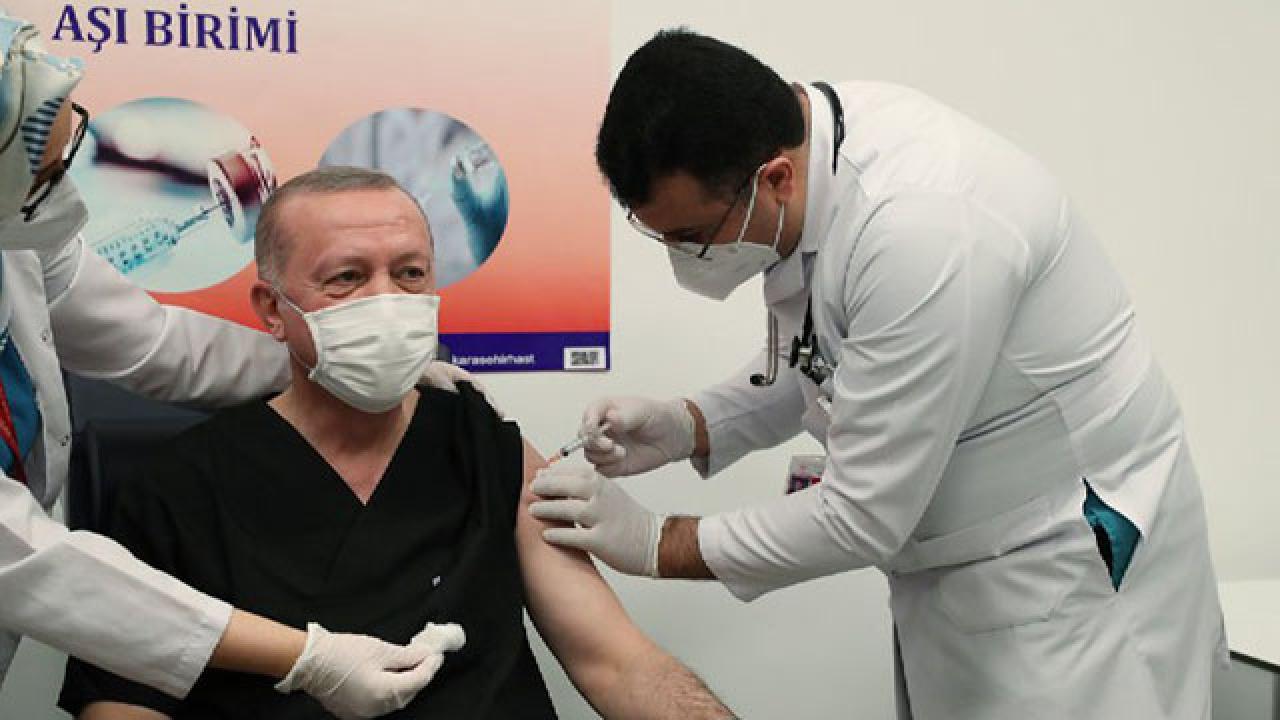 Erdoğan koronavirüs aşısı