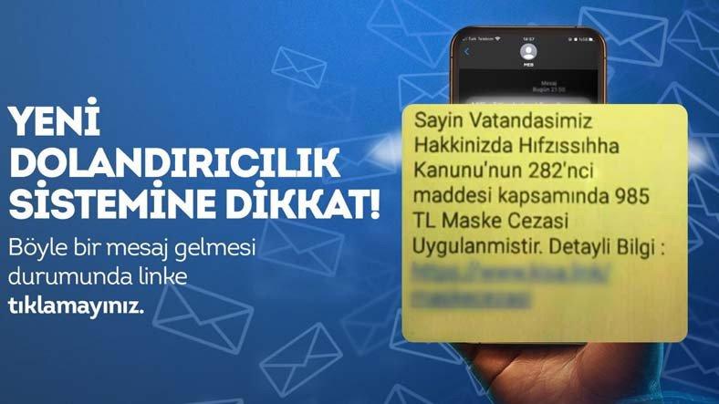 EGM'den 'Maske Cezası' Mesajlarıyla İlgili Uyarı: Bağlantılara Tıklamayın