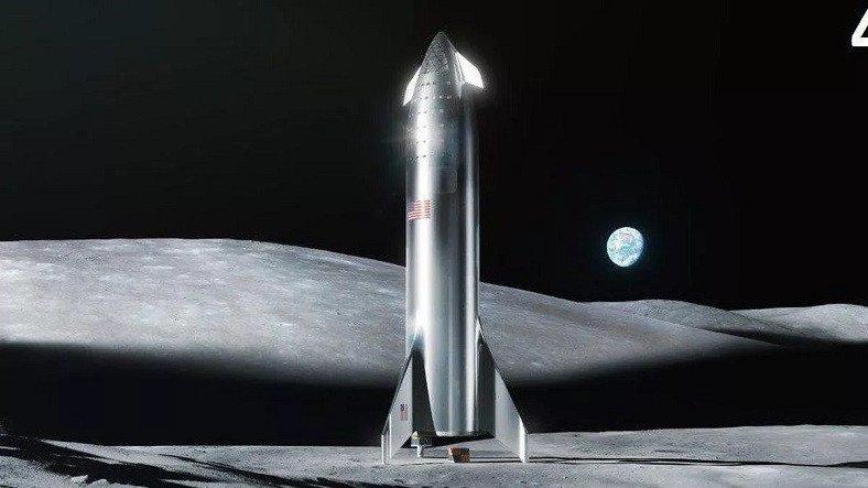 NASA, Gerçekleştirilecek İnsanlı Ay Misyonu İçin SpaceX ile Çalışacak