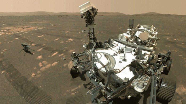 NASA, Perseverance'ın Devasa Boyutlarını Ortaya Çıkaran Bir Fotoğraf Paylaştı