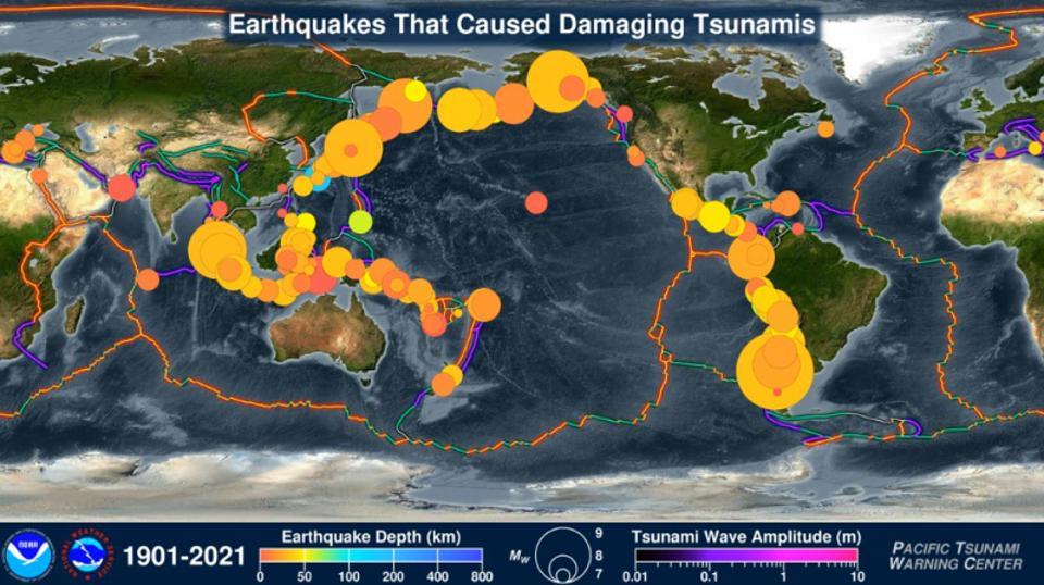 tsunamiye neden olan depremler