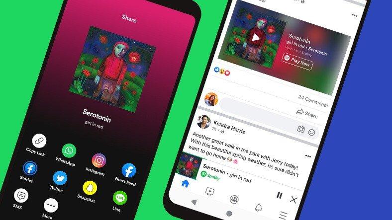 Spotify Şarkıları Artık Facebook Uygulamasında Dinlenebiliyor (Türkiye'ye Yok)